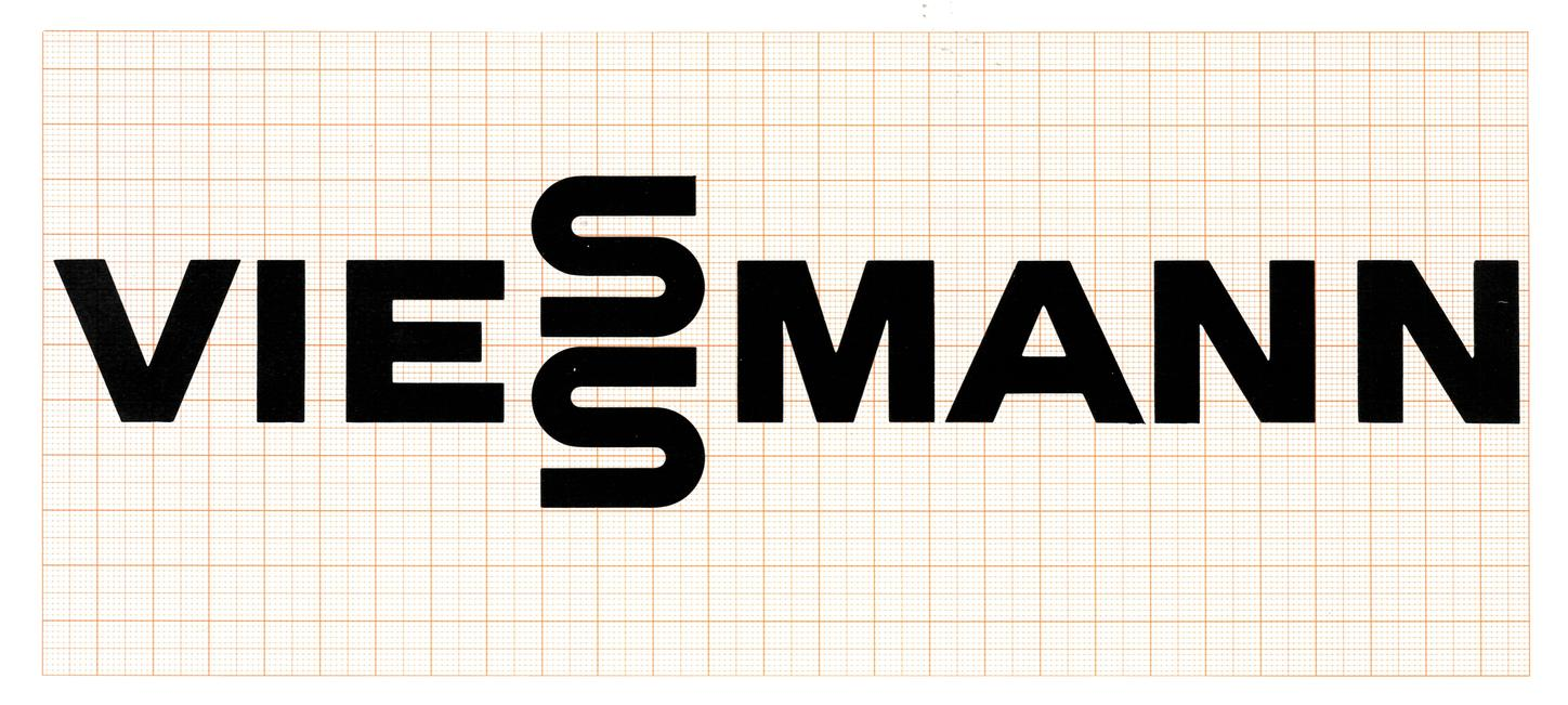 The picture shows the Viessmann lettering by Anton Stankowski