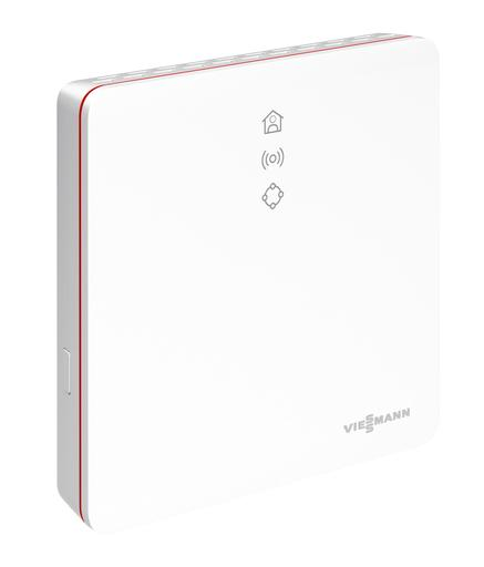 The picture shows a Vitoconnect in modern Viessmann design.