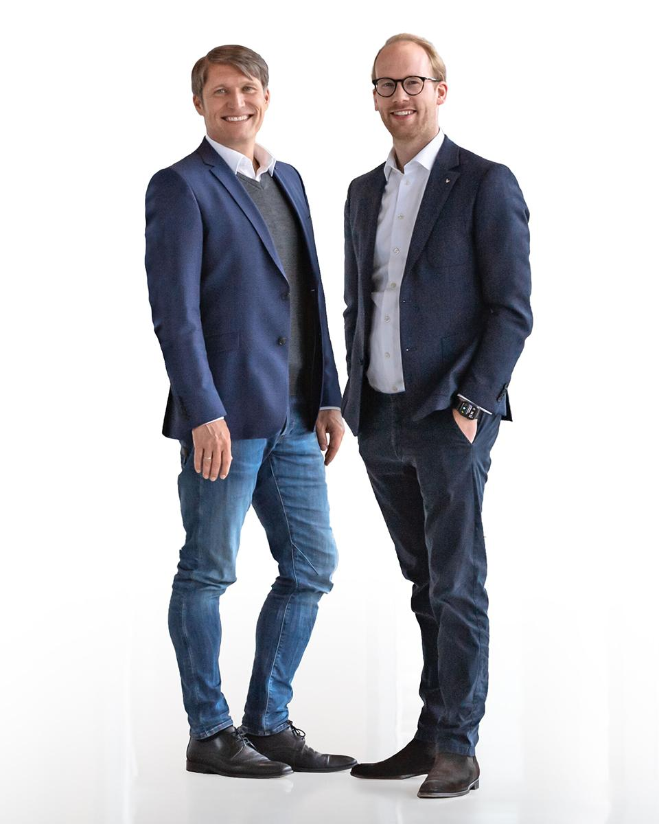 The picture shows CEO Max Viessmann and CSO Thomas Heim