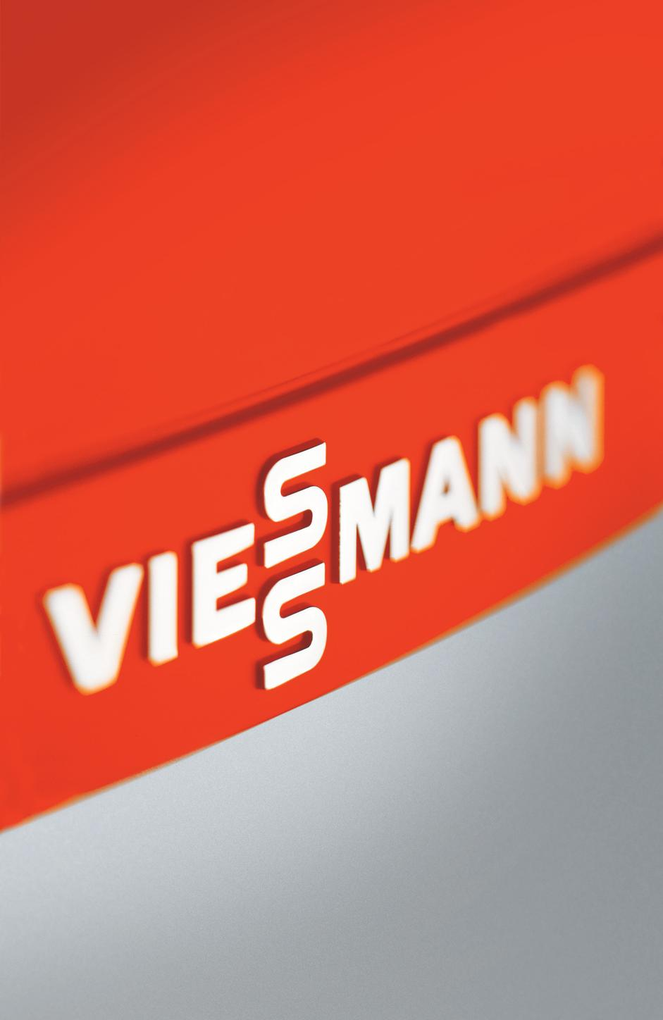 Viessmann logo on a boiler