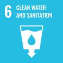 Das Bild zeigt das Icon für das SDG-Ziel 6 Sauberes Wasser und Sanitäreinrichtungen.
