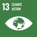 Das Bild zeigt das SDG-Ziel 13 Maßnahmen zum Klimaschutz.