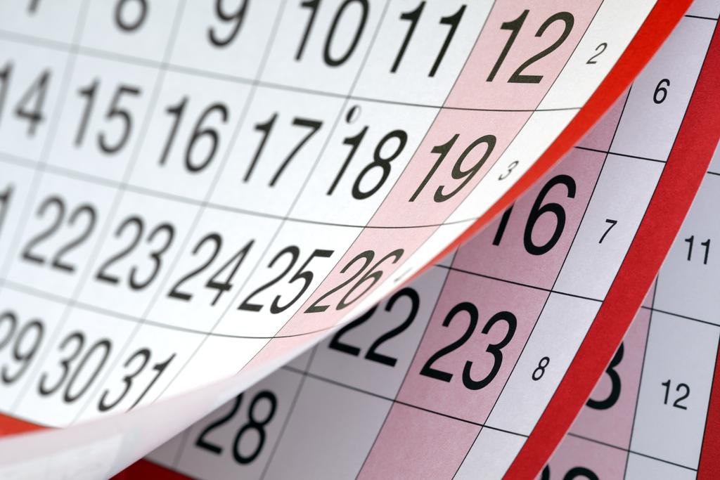 The Image shows a calender