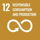 Das Bild zeigt das SDG-Ziel 12 Nachhaltige/r Konsum und Produktion.