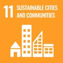Das Bild zeigt das SDG-Ziel 11 Nachhaltige Städte und Gemeinden.