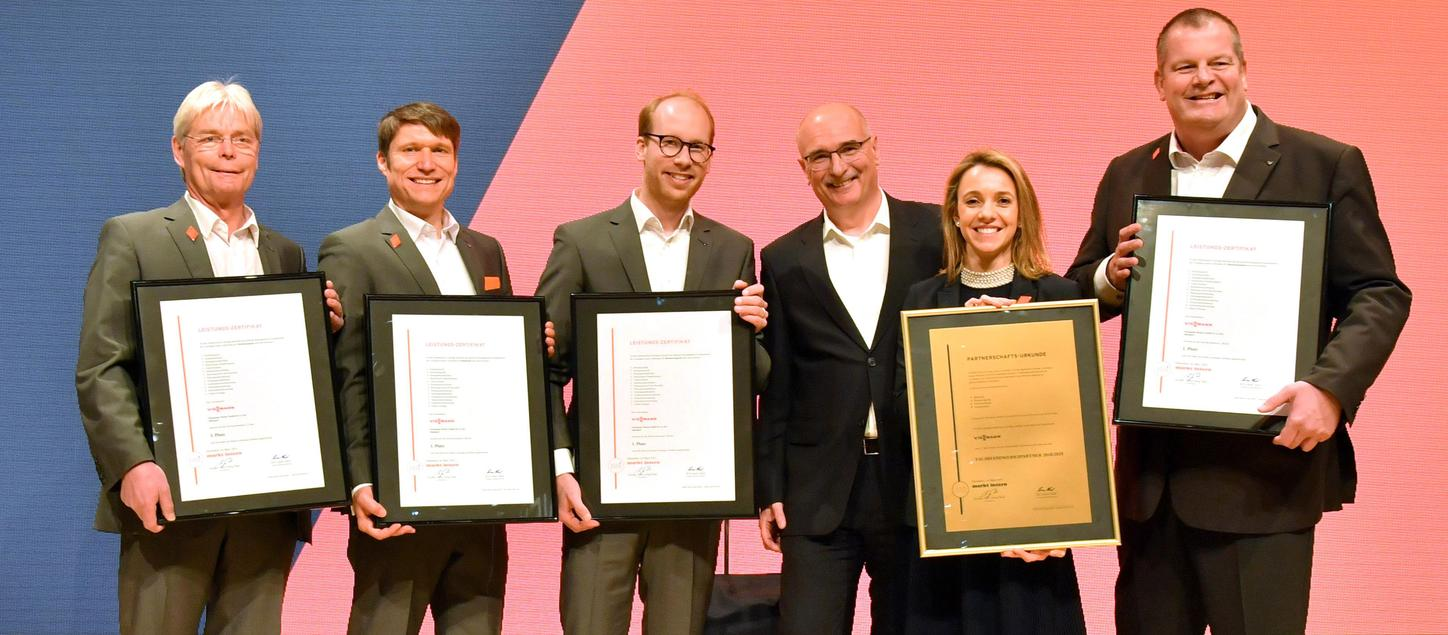 Max Viessmann and other family members at the award ceremony as trade partner no. 1