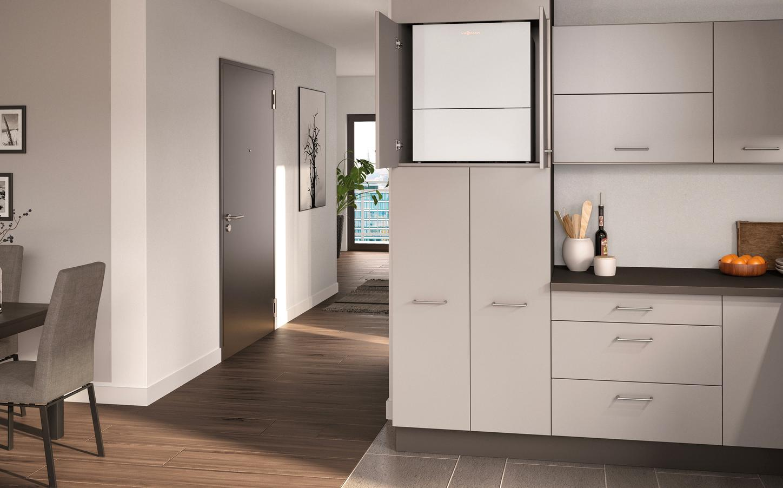 Das Bild zeigt das Wohnungslüftungs-System Vitovent 300-W.