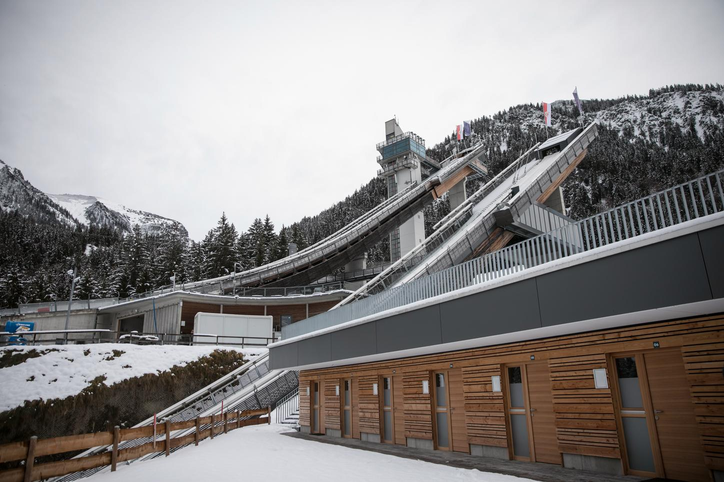 The picture shows the training facility in Oberstdorf in winter
