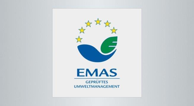 The image shows the logo of the Eco-Management and Audit Scheme - EMAS