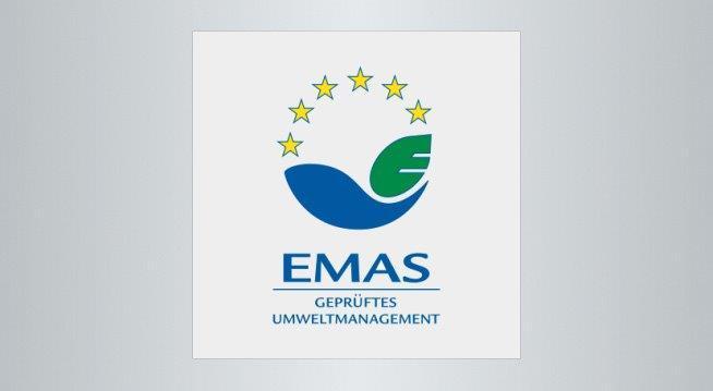 Das Bild zeigt das Logo des Eco-Management and Audit Scheme – kurz EMAS