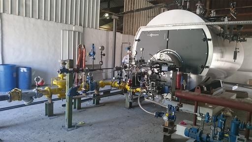 Industrial solution Steam boiler from NCI in Jordan for water treatment.
