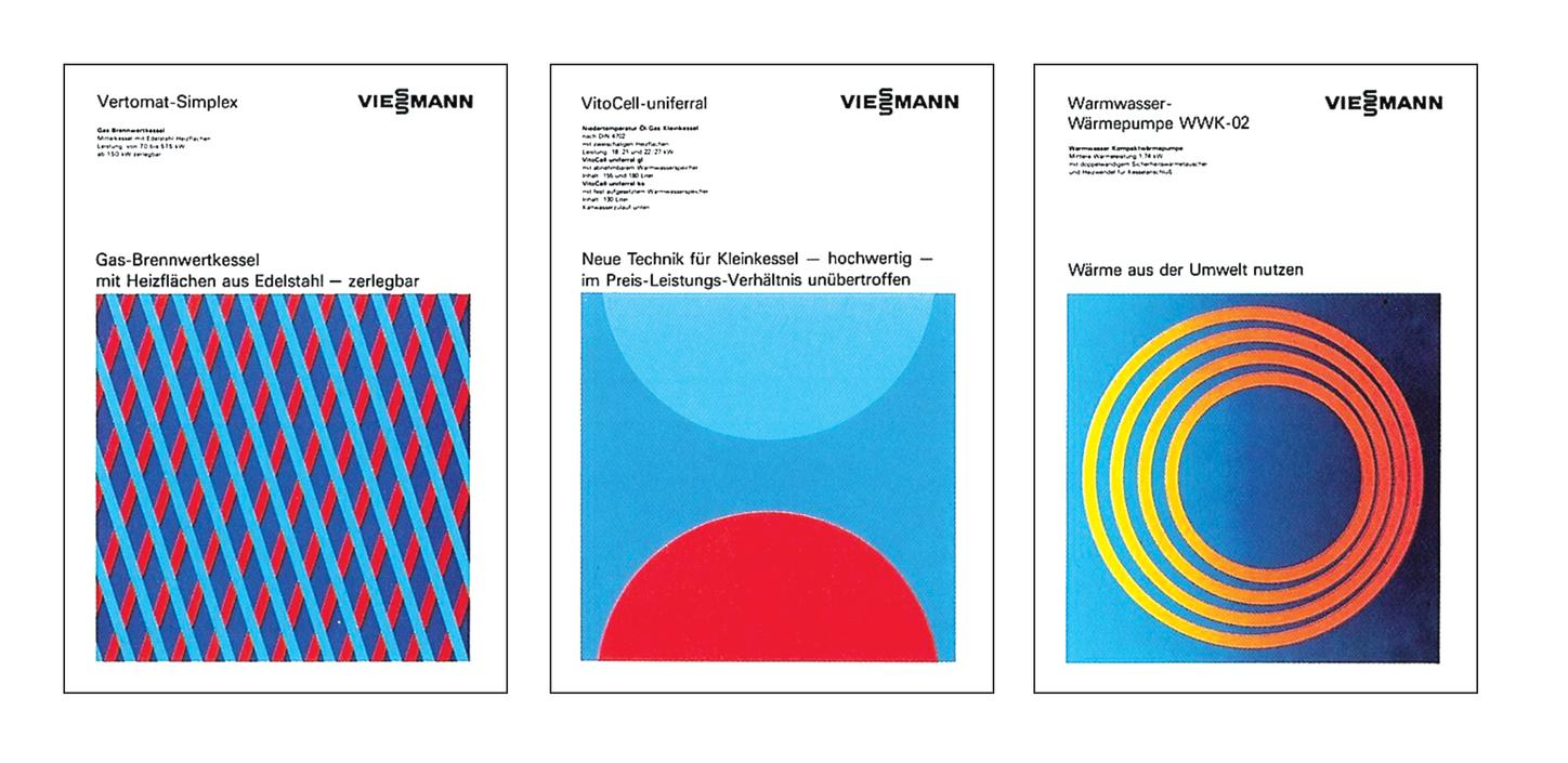 The picture shows various brochure covers by A. Stankowski