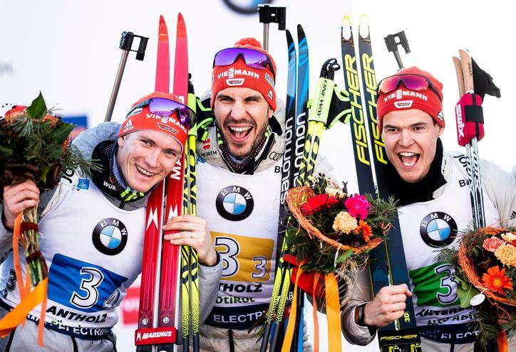 Biathlon Staffel mit Viessmann Sponsoring