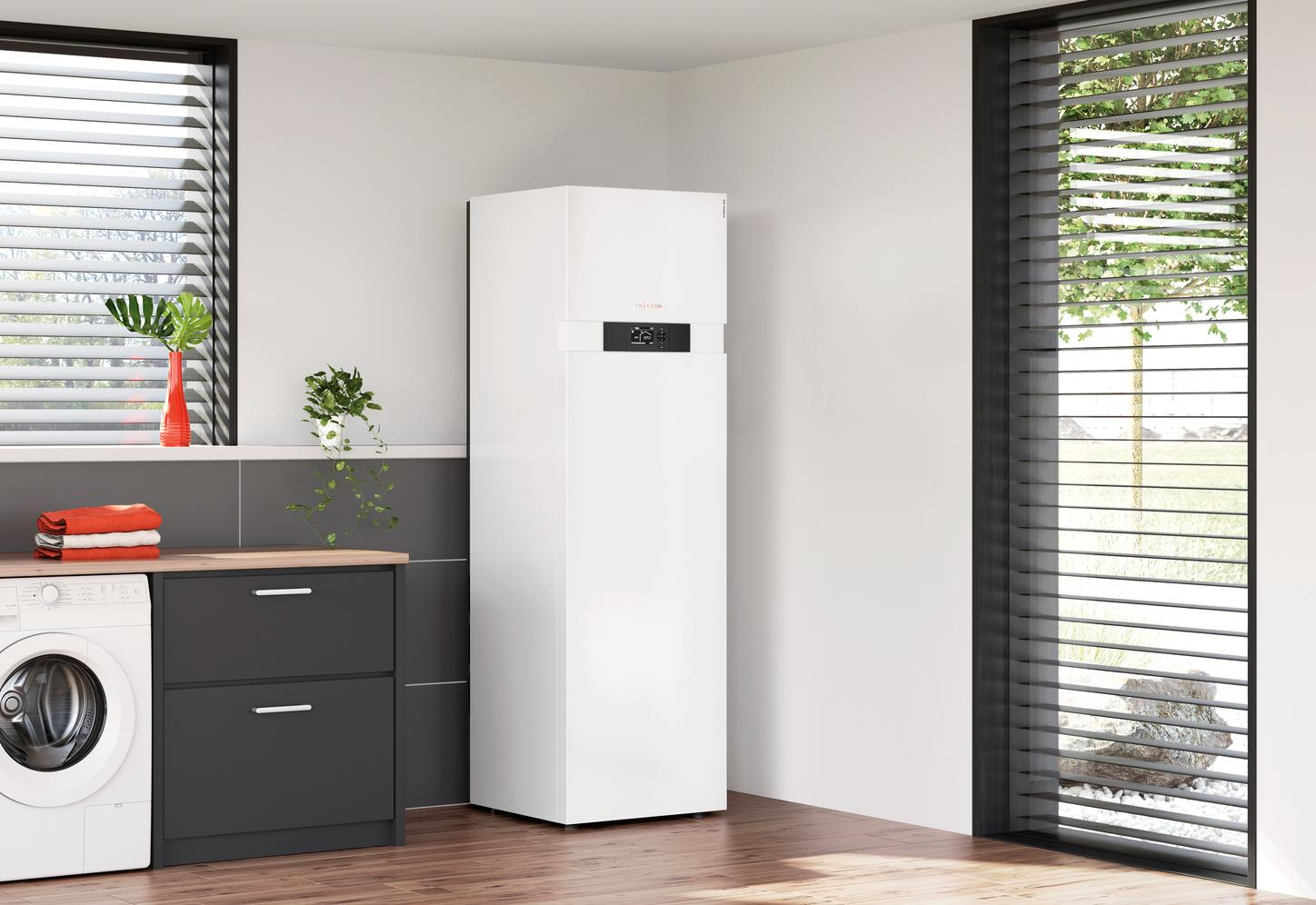 Picture shows the Viessmann Vitocal 222-G.