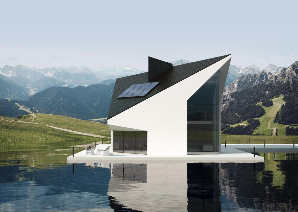Modernes Haus mit Photovoltaikanlage für die Energiewende