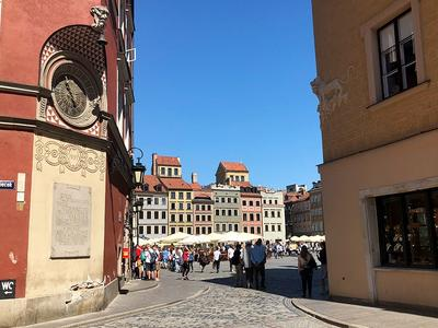 Blick auf den Warschauer Markt.