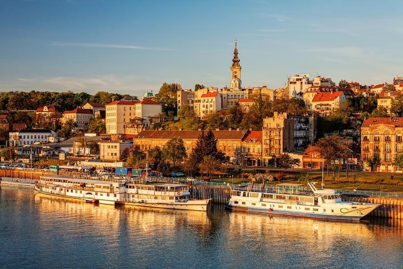 Wasseransicht von Belgrad