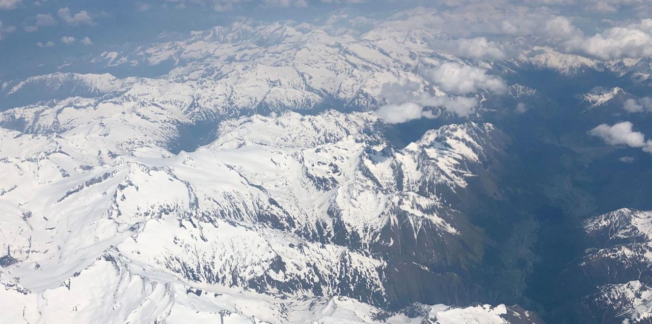 Die Alpen aus dem Flugzeug