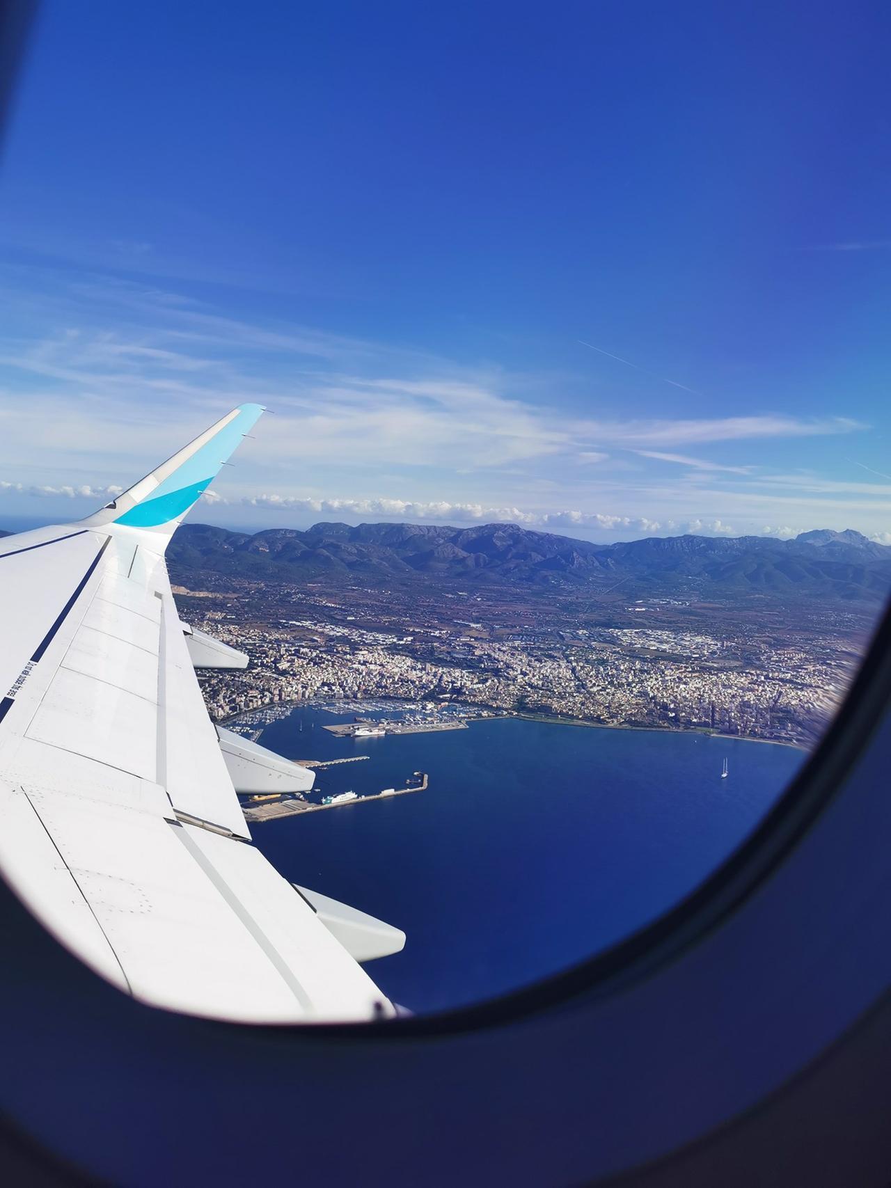 Mone flog mit Eurowings nach Mallorca.