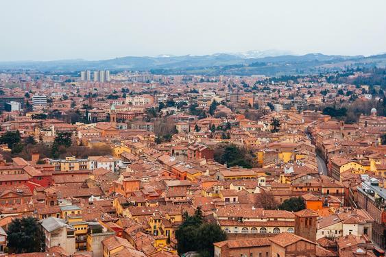 Blick über die Stadt Bologna