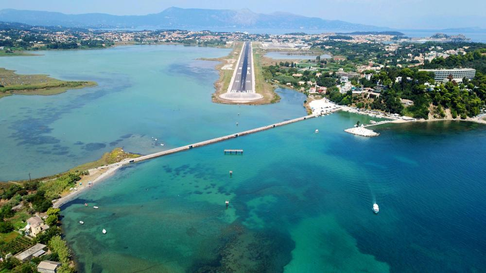 Der Flughafen auf Korfu