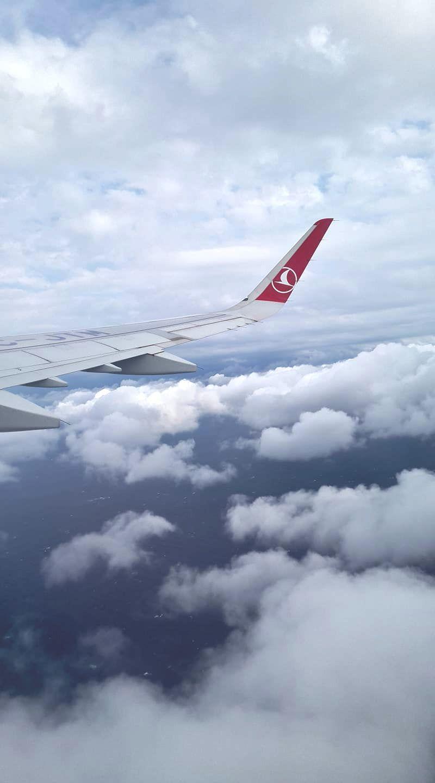 Derya flog mit Turkish Airlines nach Istanbul.