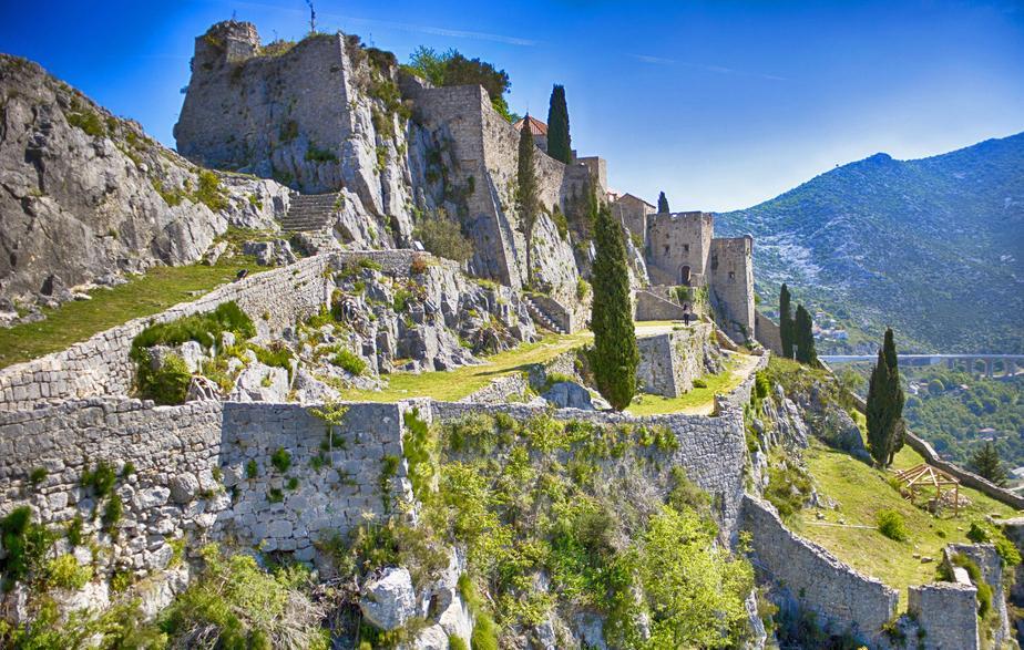 Festung Klis in Kroatien.