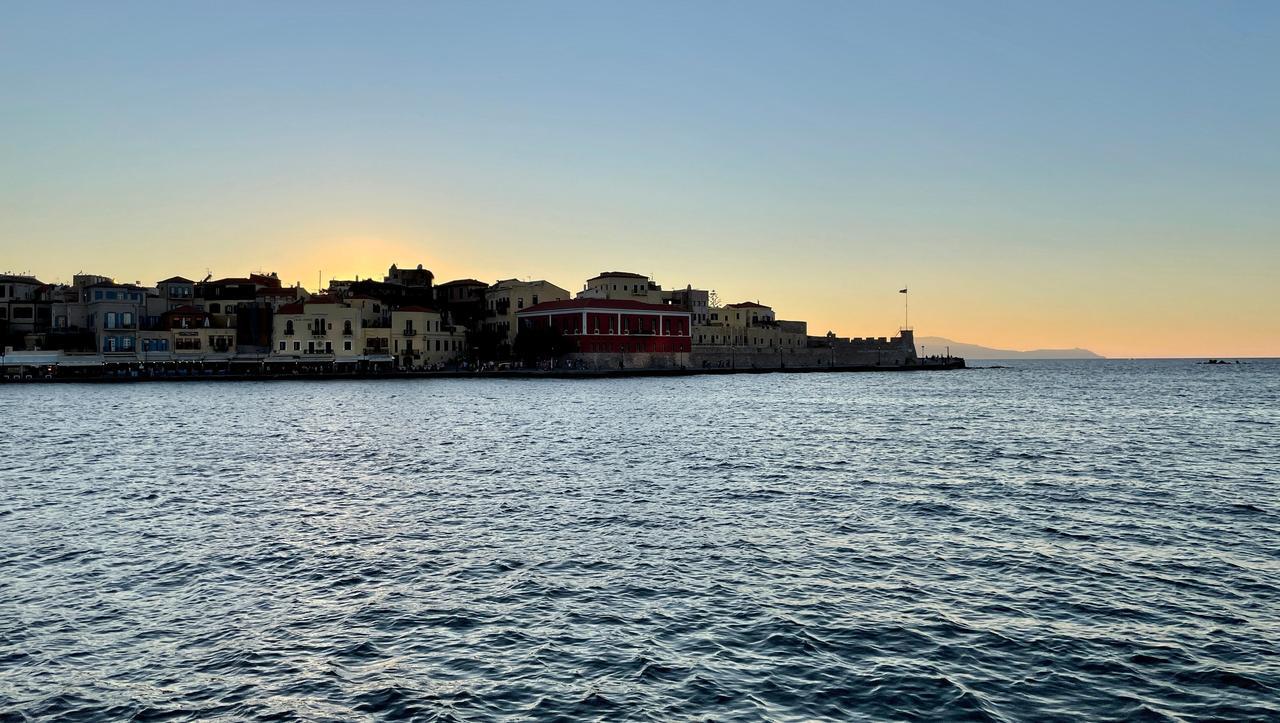 Sonnenuntergang im venezianischer Hafen