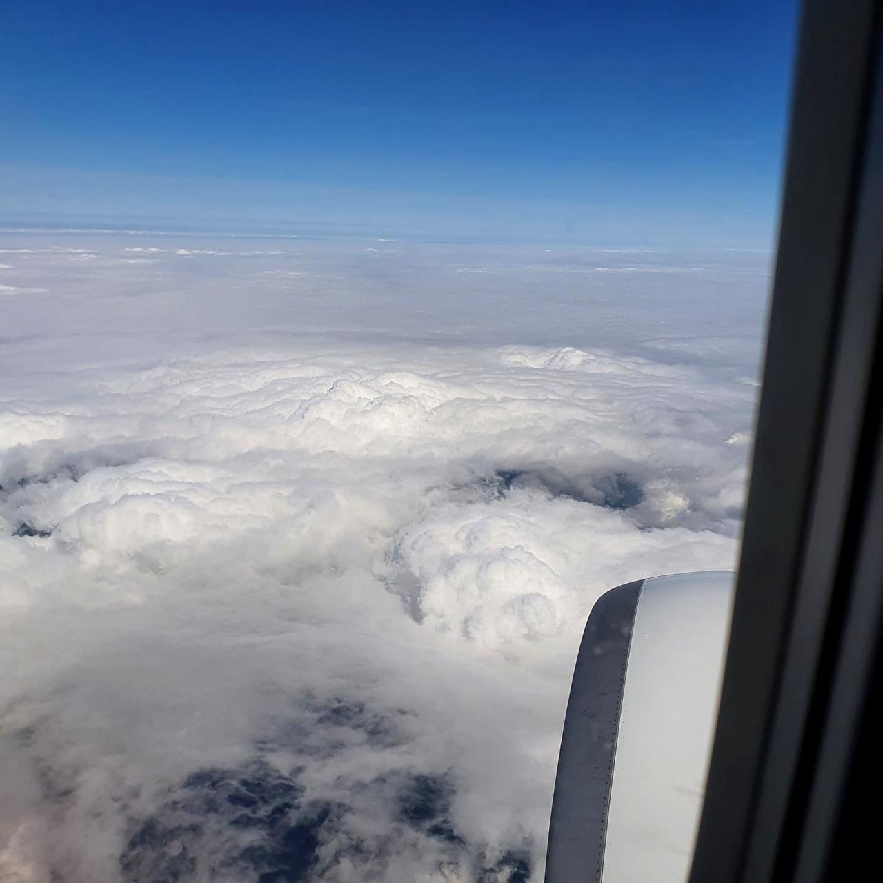 Auch Alex war über den Wolken unterwegs.