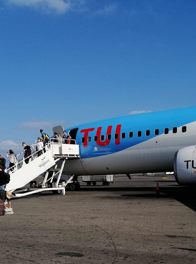Für Gaby gings mit TUI fly nach Kreta.