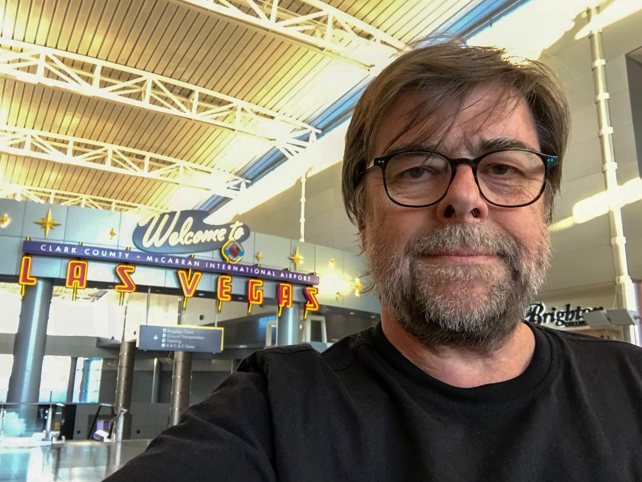 Ankunft am McCarran Airport in Las Vegas.