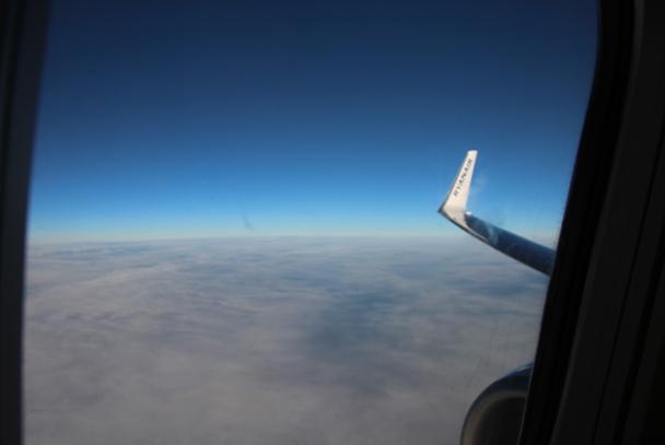 Unser Blick aus dem Flugzeug