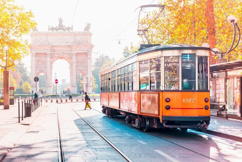 Mailand retro strassenbahn
