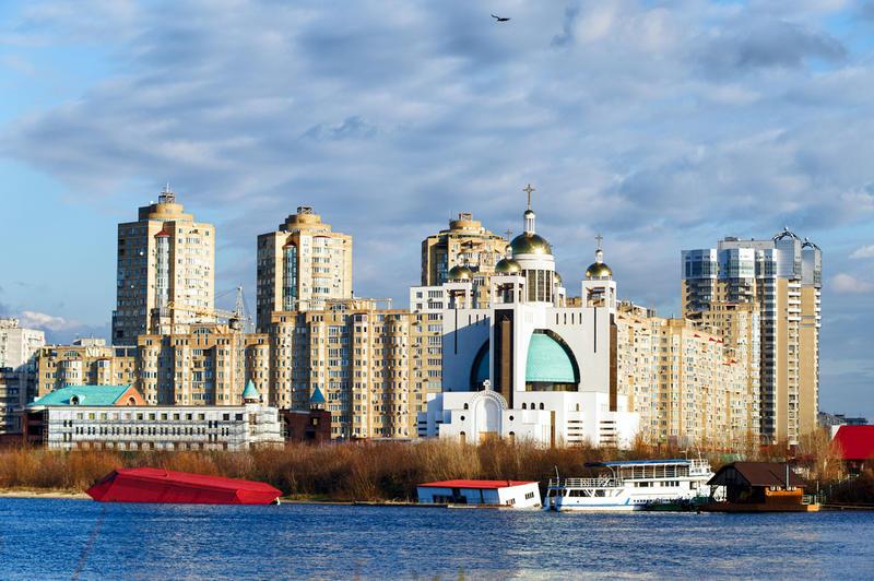 Wasseransicht von Kiew