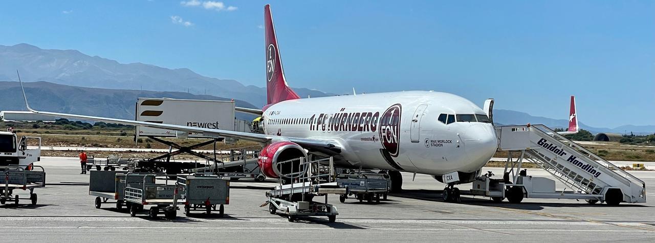 Corendon Airlines im FCN-Design am Flughafen von Chania