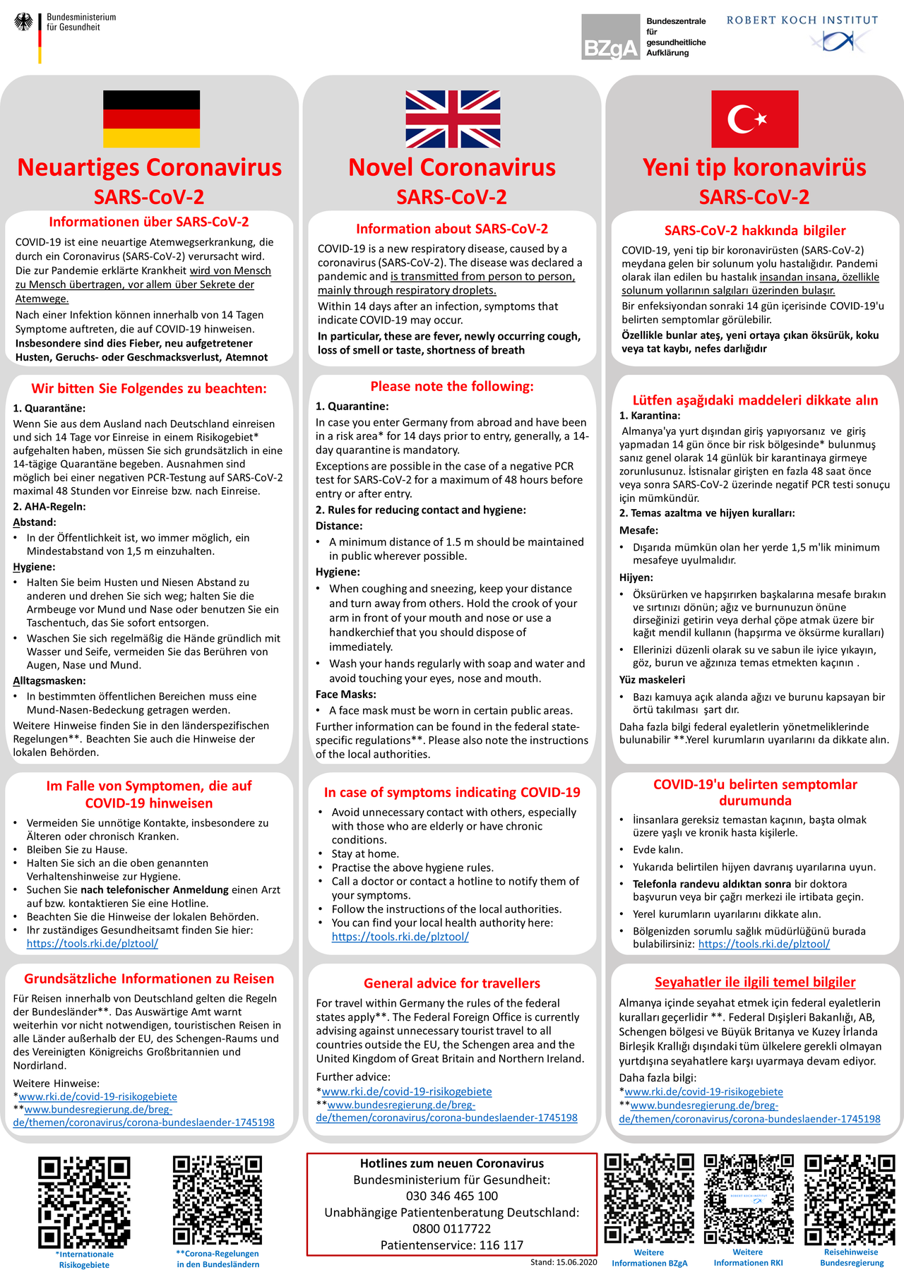 Coronavirus Information for passengers