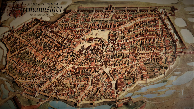 Sibius Stadtbild während des 17. Jahrhunderts