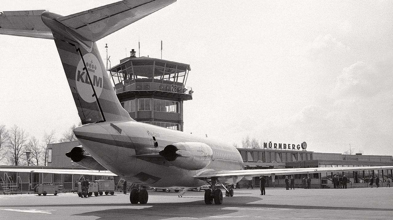Eine DC-9 der KLM im Jahr 1967.