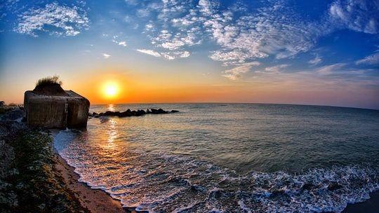 Sonnenuntergang in Tuzla