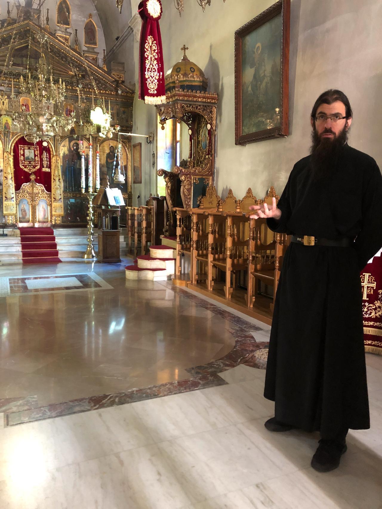 Mönch Athinagorasentschied sich für ein Leben im Dienste der griechisch-orthodoxen Kirche.