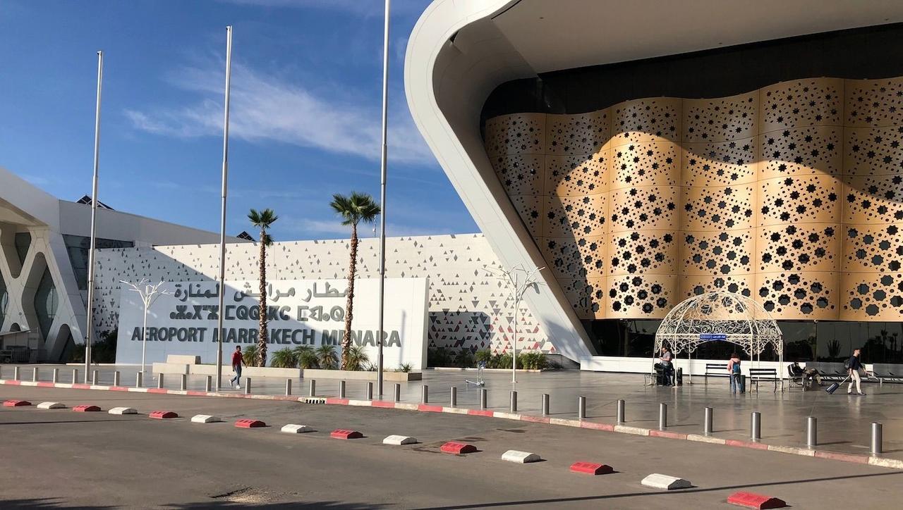 Flughafen in Marrakesch