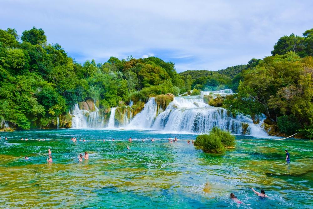 Baden im Nationalpark Krka.