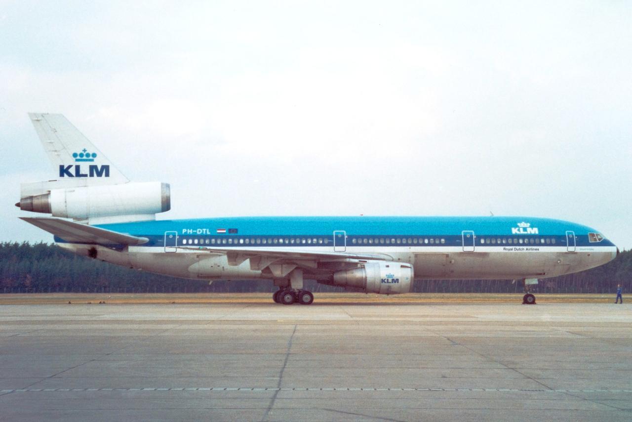 Sonderflug einer KLM DC-10 im Jahr 1991.