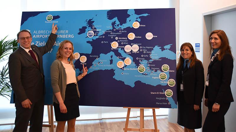 Rekordangebot im Anflug: Flugplanwechsel am Albrecht Dürer Airport mit vielen neuen Verbindungen