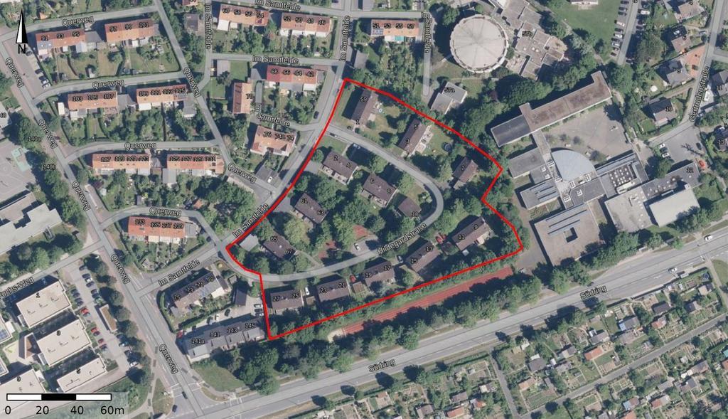 Wohnsiedlung in der Hildegardstraße in Parderborn