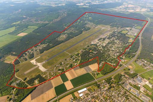 Luftbild ehemaliger militärischer Flughafen in Niederkrüchten-Elmpt