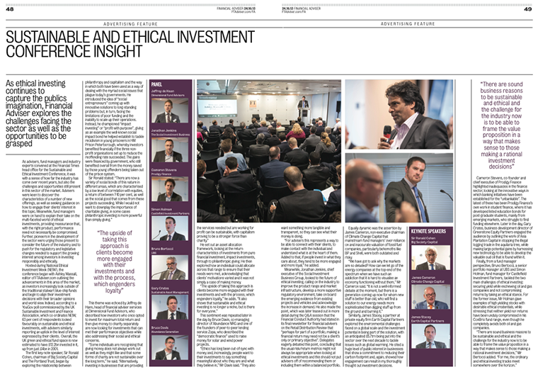 Financial Adviser Sustainable Ethical Investment Conference