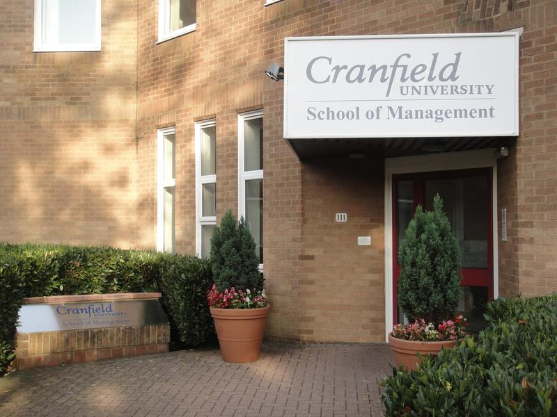 Cranfield School of Management with a Prodigy Finance-funded student