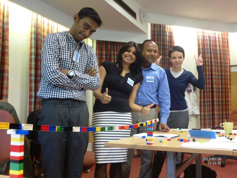 Prodigy Finance borrower and Cranfield MBA team-building exercise