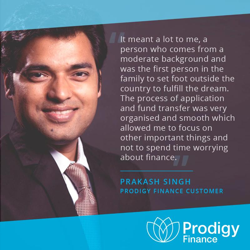 Prakash Singh Prodigy Finance borrower